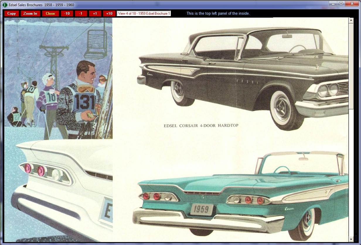 1960 Ford Edsel Sales Brochures CD-ROM 1958-1959