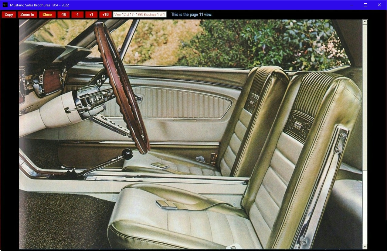 Mustang Sales Brochures 1964 Ford Brochure Scrollable Zoomed In View At Screen Resolution Up To 1240 Wide
